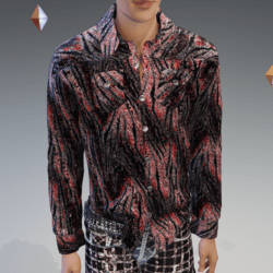 Tiger Red-Rocker Long Sleeve Shirt - Male