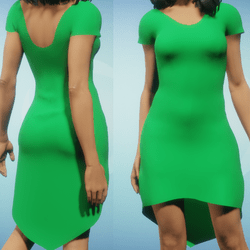 Simply Fun Green Dress