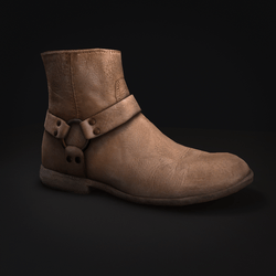 Boots - Men's - Ankle Length - Leather - Biege