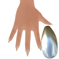 Claw nails silver