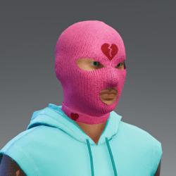 Balaclava - broken heart pink_male