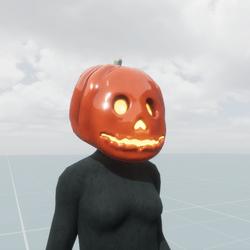 Pumpkinish Head Female. Clothing
