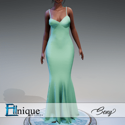 Sony Teal Gown