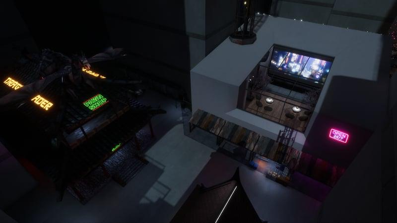 Cyber Punk Lounge & Alley Ways.