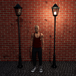 Dark Green Street Lamp - Not Scripted