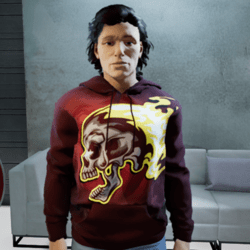 Men Skull Sweatshirt Hoodie