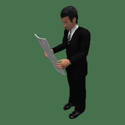 Timoty mit Zeitung