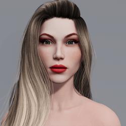 Angela - Porcelain - Light Red Makeup - Green Eyes - Women AV2