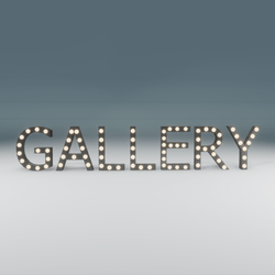 Gallery Marquee Blinking Sign