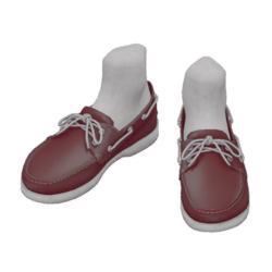 Boat shoes_maroon