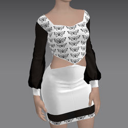 Sexy Butterfly Dress