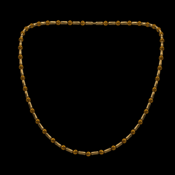 BEADED NECKLACE - GOLD and Rust - Avatar 2.0