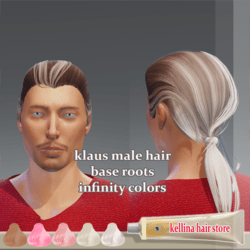 klaus male hair-base roots -infinity colors