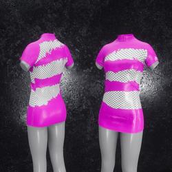 Dress Mila Latex Holes pink