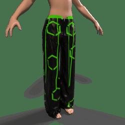 Raver Pants Female - Green