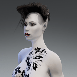 Elf Avatar with Tattoo