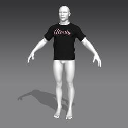 Alinity T-Shirt - Black - Male