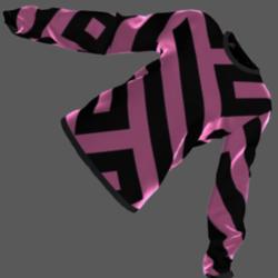 Velvet  Sweater (funky pattern)