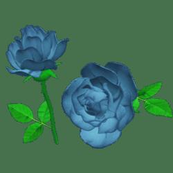 Single Light Dusty Blue Rose