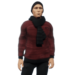 Pullover_scarf_red