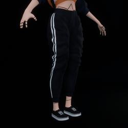 Black Baggy Jogging Pants