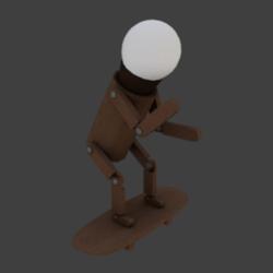 Lamp skateboard