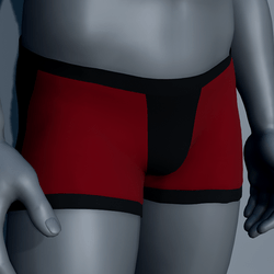 Men Boxer Underwear - Red and Black