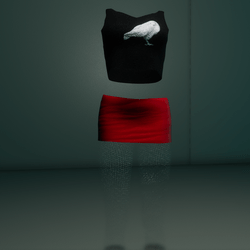 Clubbin Outfit (BlackRed Crow)