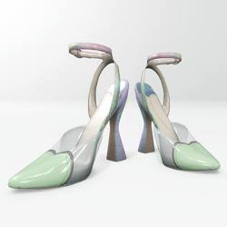 Amore pumps for Nicci - green