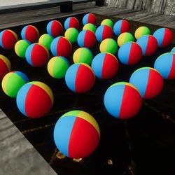 BEACH WATER BALLS(Upgrade-texture,material)
