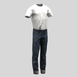 male jeans and t-shirt