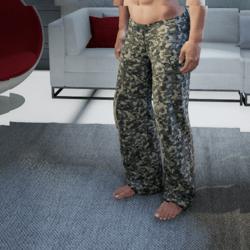 Mens Digital Camo Pants