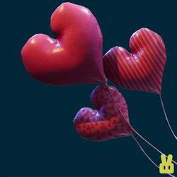 bouquet heart balloons