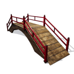 Oriental red bridge