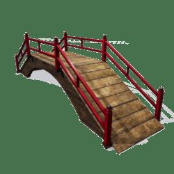 Oriental red bridge