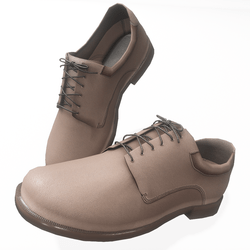 Oxford style male shoes - mocha