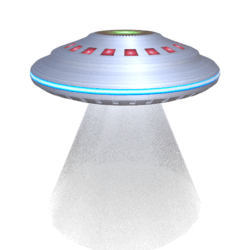 Animated UFO Saucer