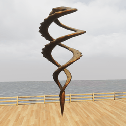 Twisted Spiral Bronze Animated Sculpture