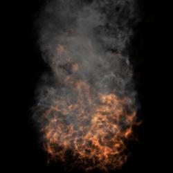 Animated Flame & Smoke