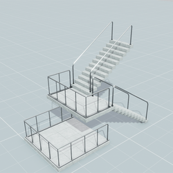 Stairs and Railings Set