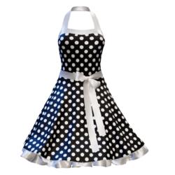 Fifties Rockabilly Polka Dot Dress black