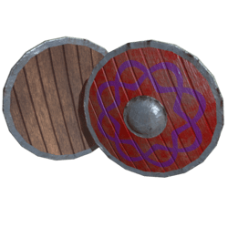 Red Wooden Shield