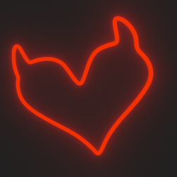 Heart horns neon