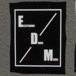 EDM wall poster