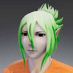 Mukuro hair green