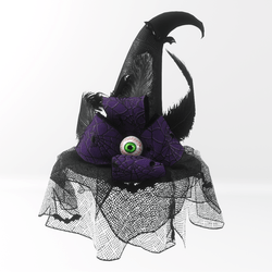 Witch hat - purple