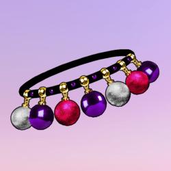 Ornaments Choker Pink Violet Silver