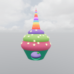Kawaii Unicorn Cupcake Bed