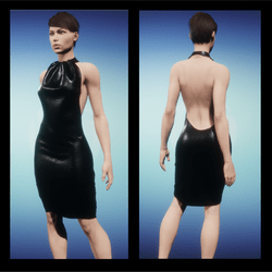 Elegant dress - black