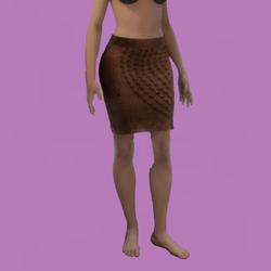 Aria skirt brown